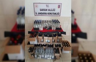 Jandarma'dan 'Kaçak içki' operasyonu