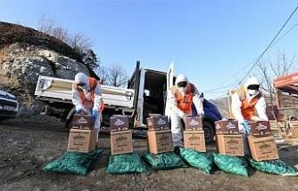 Karantinadaki mahallelilere Altınordu Belediyesi'nden yardım