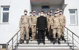 Kaymakam Demirer'den jandarmaya ziyaret