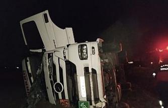Kırkağaç'ta tanker devrildi: 1 yaralı