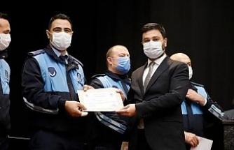 Pandeminin kahramanları başarı belgelerini aldı