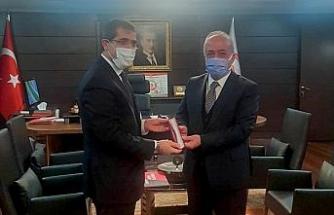 Rektör Çomaklı, Cumhurbaşkanlığı Strateji ve Bütçe Başkanı İbrahim Şenel ile bir araya geldi