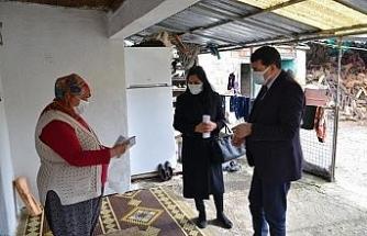 Sosyal yardımdan faydalanamadığı tespit edilen ailelere ziyaret