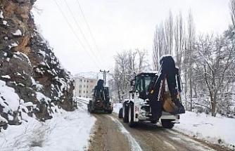 Uludere Belediyesi karla mücadele çalışmalarına devam ediyor