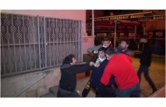 Bursa'da antikacı dükkanındaki yangın sırasında büyük kavga
