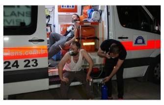 Bursa'da kauçuk fabrikasında çıkan yangında, 6 işçi dumandan etkilendi