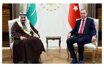 Cumhurbaşkanı Erdoğan, Suudi Arabistan Kralı Selman bin Abdülaziz ile görüştü