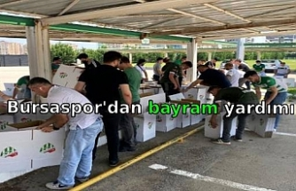 Bursaspor'dan bayram yardımı