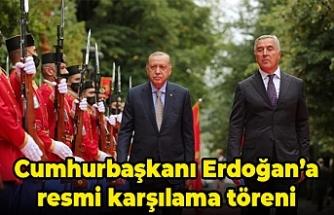 Cumhurbaşkanı Erdoğan'a resmi karşılama töreni