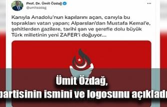 Ümit Özdağ, partisinin ismini ve logosunu açıkladı