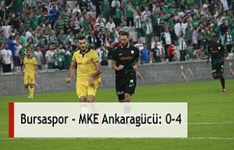 Bursaspor - MKE Ankaragücü: 0-4