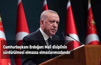 Cumhurbaşkanı Erdoğan: Mali disiplinin sürdürülmesi olmazsa olmazlarımızdandır