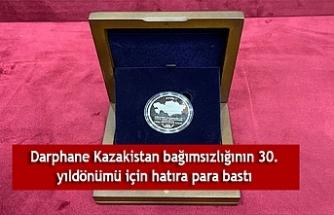 Darphane Kazakistan bağımsızlığının 30. yıldönümü için hatıra para bastı