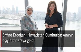 Emine Erdoğan, Hırvatistan Cumhurbaşkanının eşiyle bir araya geldi