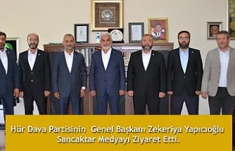 HÜDA PAR Genel Başkanı Zekeriya Yapıcıoğlu Sancaktar Medyayı Ziyaret etti.