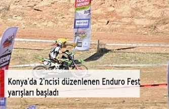 Konya'da 2'ncisi düzenlenen Enduro Fest yarışları başladı