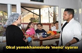 Okul yemekhanesinde 'menü' uyarısı
