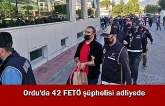 Ordu'da 42 FETÖ şüphelisi adliyede