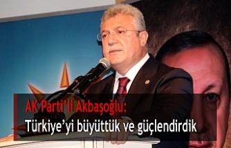 AK Parti'li Akbaşoğlu: Türkiye'yi büyüttük ve güçlendirdik
