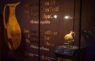 Anadolu'dan kaçırılan 4 bin 250 yıllık gaga ağızlı testi Türkiye'de