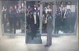 Davutoğlu'nun asansör kazası öncesi ve sonrası kamerada
