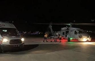 Deniz Kuvvetleri Komutanlığı helikopteri erken doğum riski olan Öznur için havalandı