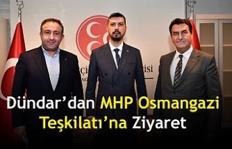 Dündar'dan MHP Osmangazi Teşkilatı'na Ziyaret