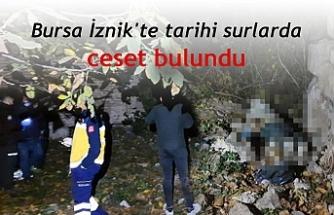 İznik'te tarihi surların yanında ceset bulundu