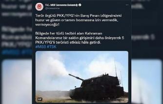MSB: 5 PKK/YPG'li etkisiz hale getirildi