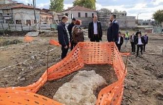 Selimiye Camii'nin çevre düzenlemesinde tarihi kalıntılar bulundu
