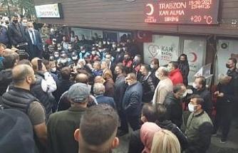 Trabzon'da gerginliği polis önledi