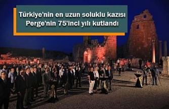 Türkiye'nin en uzun soluklu kazısı Perge'nin 75'inci yılı kutlandı