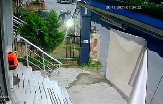 Ümraniye'de motosiklet hırsızlığı güvenlik kamerasında