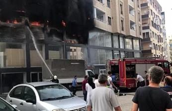 Patlayan klimadan çıkan yangın söndürüldü