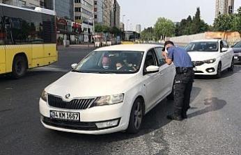 (Özel) İstanbul'da trafik denetiminde ilginç anlar kamerada