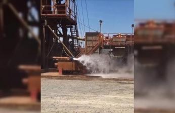 Jeotermal tesiste fışkıran kaynar sudan iki işçi yaralandı