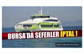 Bursa-İstanbul deniz otobüsünde bazı seferler iptal edildi