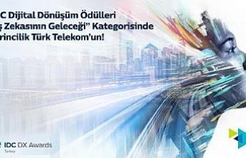 Türk Telekom'un yapay zekâ projesine birincilik ödülü