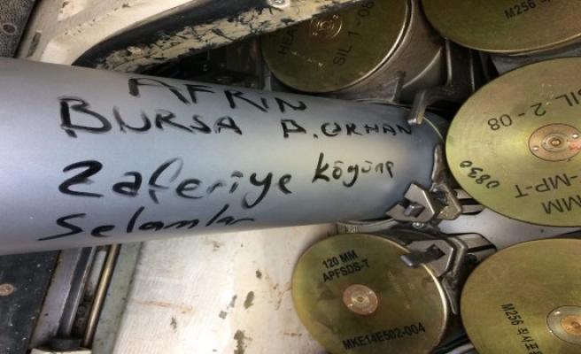Afrin'den Bursa Büyükorhan'a bomba gibi asker selamı