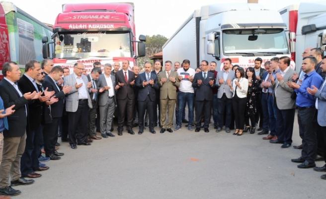 Bursa'dan Suriye'ye 4 tır yardım
