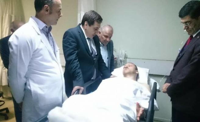 Yaralı öğretmenlere Vali Küçük'ten Ziyaret