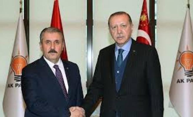 Cumhurbaşkanı Erdoğan 'Cumhur İttifakı'na destek veren BBP'yi ziyaret etti