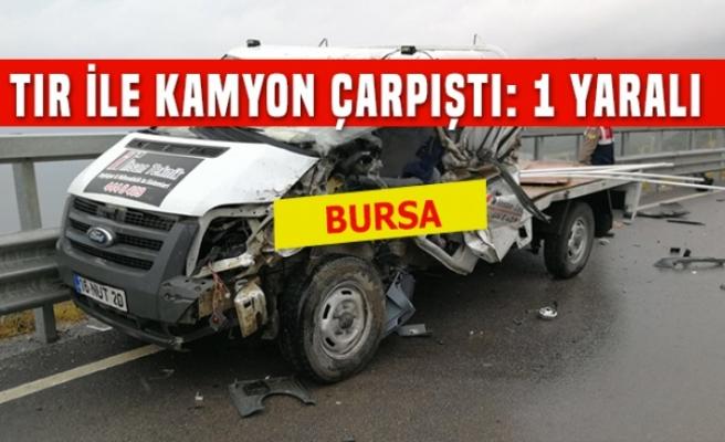 İznik'te feci kaza: 1 yaralı