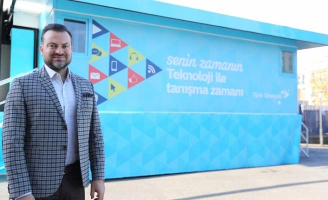 Türk Telekom'un tırı Bursa'ya geliyor
