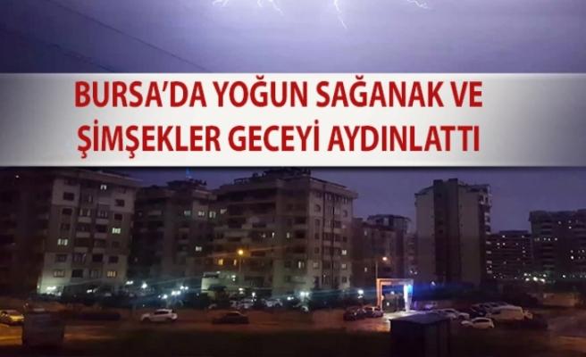 Bursa'da aniden bastıran sağanak