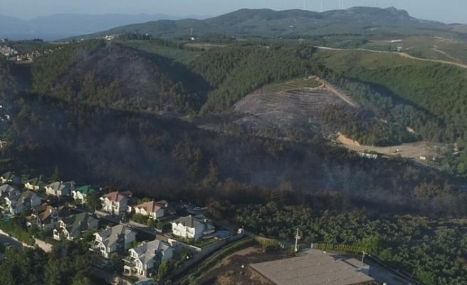 Mudanya'daki yangının ardından kalan acı manzara!