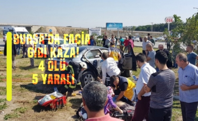 Bursa'da gelin konvoyunda facia gibi kaza