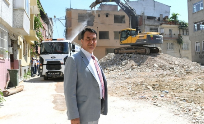 Bursa'da riskli alandaki 55 bina yıkıldı