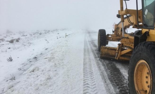 Bursa'da karla mücadele başladı