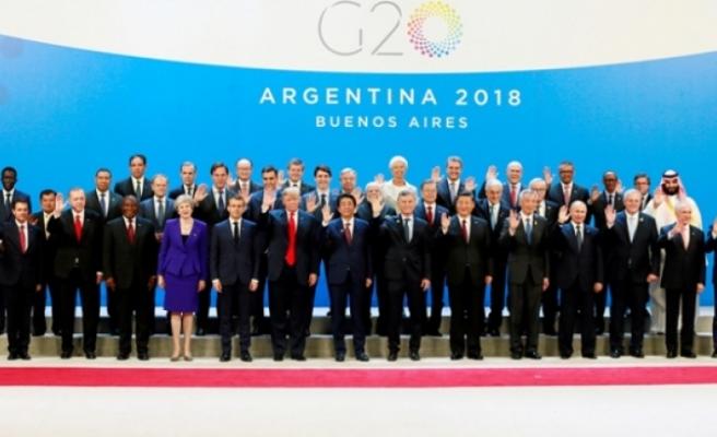 Liderler G-20 Zirvesi'nde buluştu